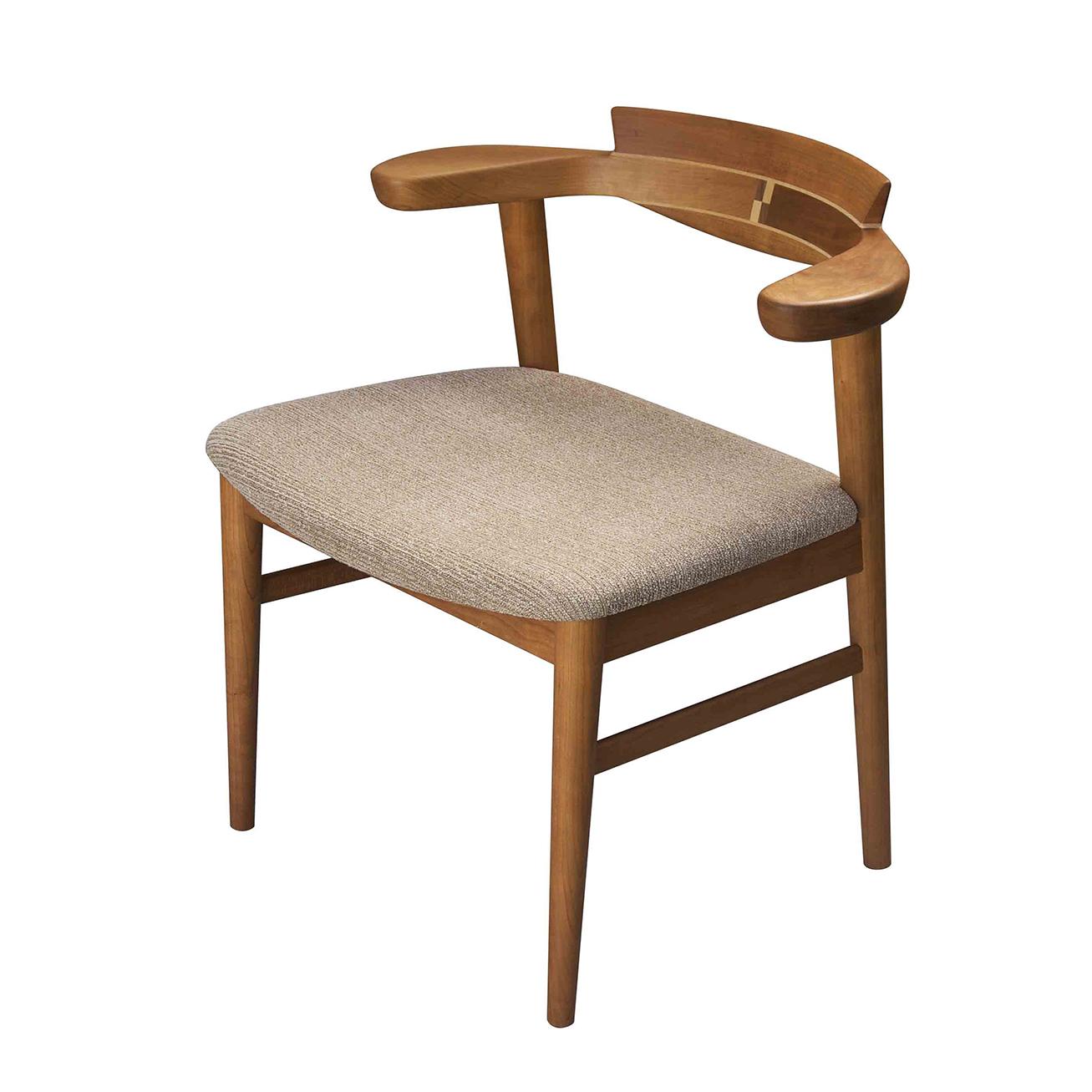 腰の椅子 Awaza チェア チェリー 座面布張  いのうえアソシエーツ