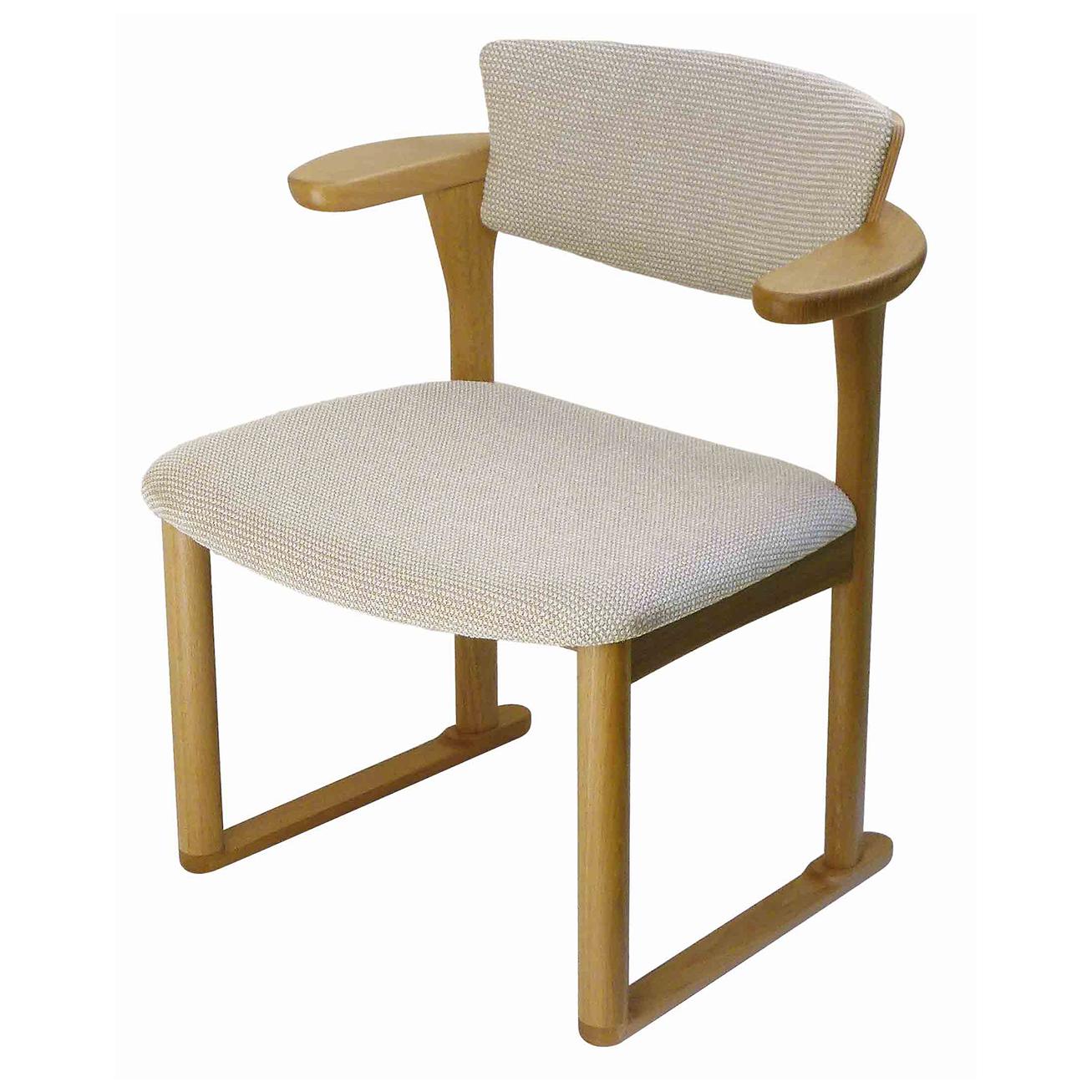 腰の椅子 Awaza LD 中座椅子 オーク:ナラ 座面布張  いのうえアソシエーツ