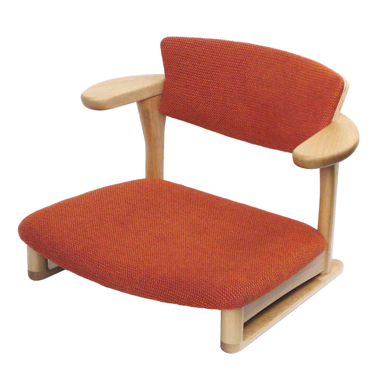 腰の椅子 Awaza LD 低座椅子 オーク:ナラ 座面布張  いのうえアソシエーツ