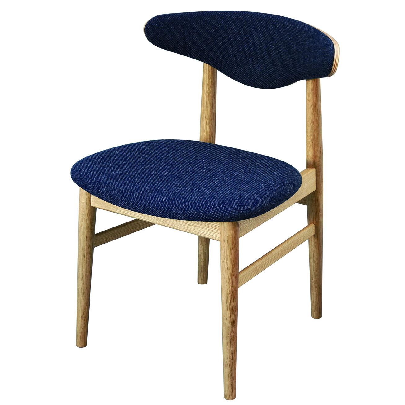 腰の椅子 Awaza MA01  アームレスチェア オーク:ナラ 座面布張  いのうえアソシエーツ