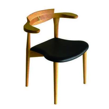 腰の椅子 Awaza 2  スタッキングチェア オーク:ナラ 座面革張  いのうえアソシエーツ
