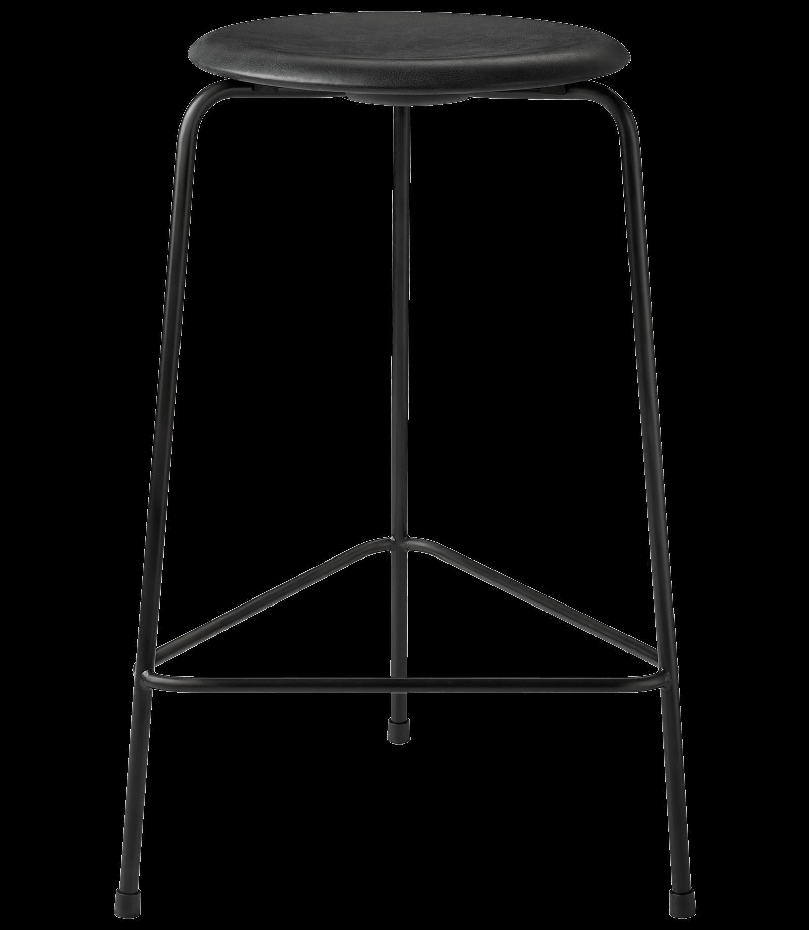 FRITZHANSEN(フリッツハンセン)dot stool(ドットスツール)ハイスツール,粉体塗装仕上げスチール脚, レザー