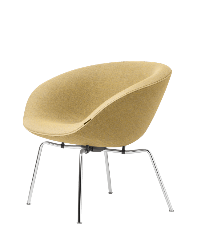 FRITZHANSEN(フリッツハンセン) pot chair(ポットチェア)3318, ラウンジチェア, ファブリック, クロームベース