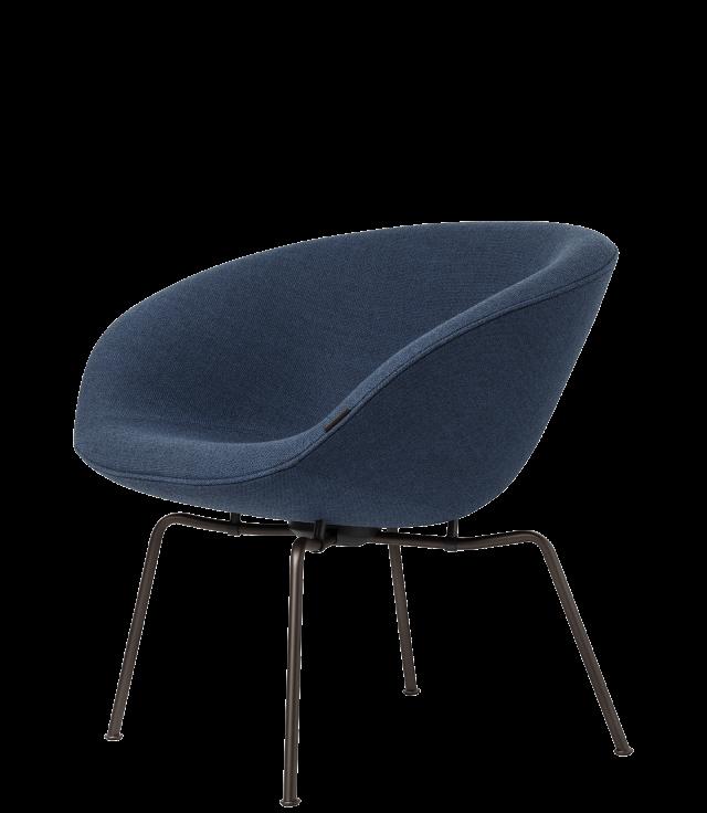 FRITZHANSEN(フリッツハンセン) pot chair(ポットチェア)3318, ラウンジチェア, ファブリック, 粉体塗装仕上げベース(ダークブラウン)