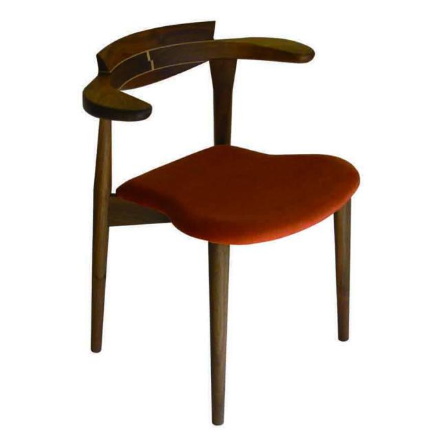 腰の椅子 Awaza 2  スタッキングチェア ウォールナット 座面布張  いのうえアソシエーツ