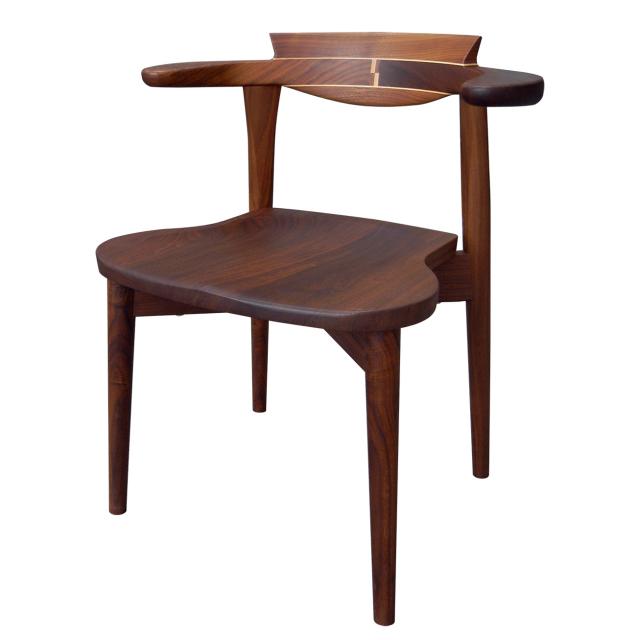 腰の椅子 Awaza 2 itaza スタッキングチェア ウォールナット 板座面  いのうえアソシエーツ