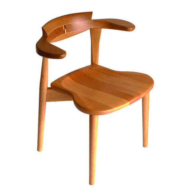 腰の椅子 Awaza 2 itaza スタッキングチェア オーク:ナラ 板座面 いのうえアソシエーツ