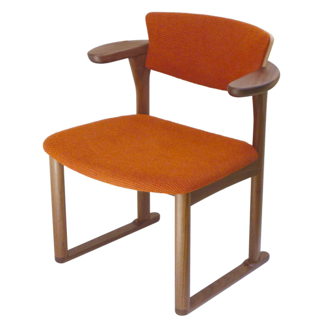 腰の椅子 Awaza LD 中座椅子 ウォールナット 座面布張  いのうえアソシエーツ