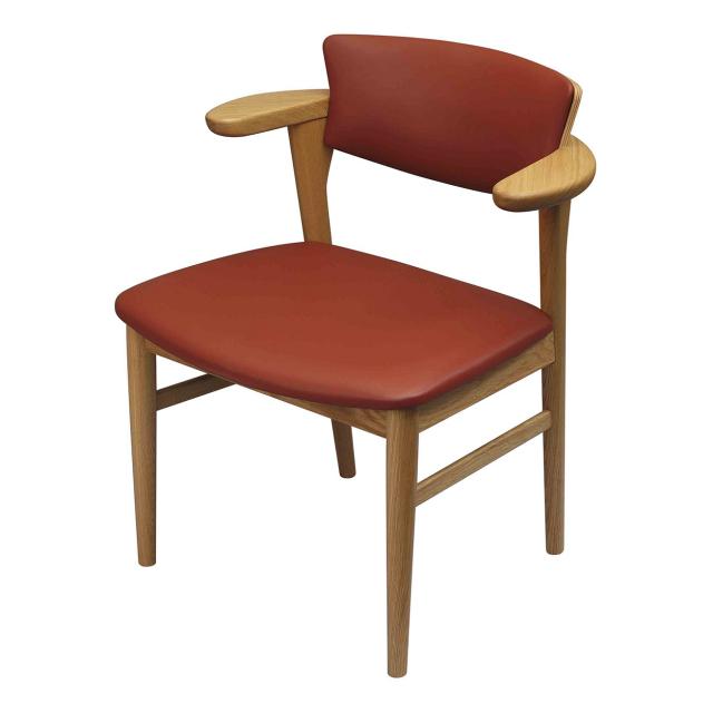 腰の椅子 Awaza LD チェア オーク:ナラ 座面革張  いのうえアソシエーツ