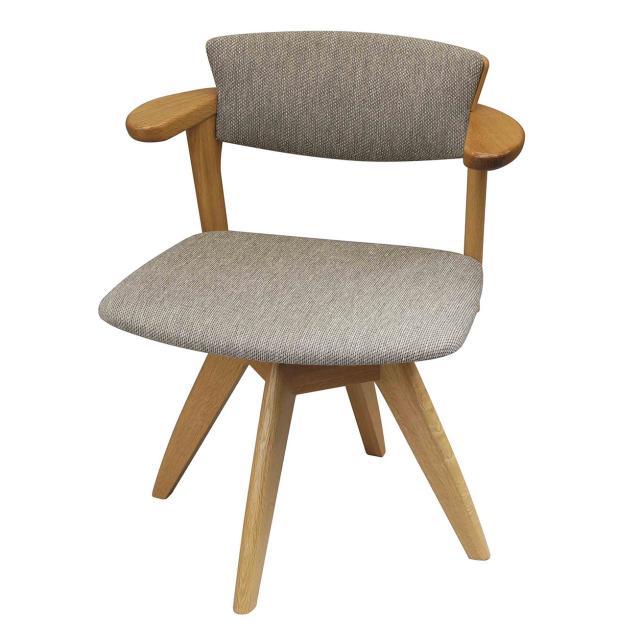 腰の椅子 Awaza LDR 回転椅子 オーク:ナラ 座面布張  いのうえアソシエーツ
