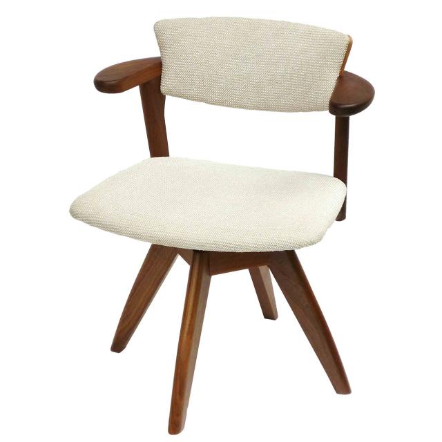 腰の椅子 Awaza LDR 回転椅子 ウォールナット 座面布張  いのうえアソシエーツ
