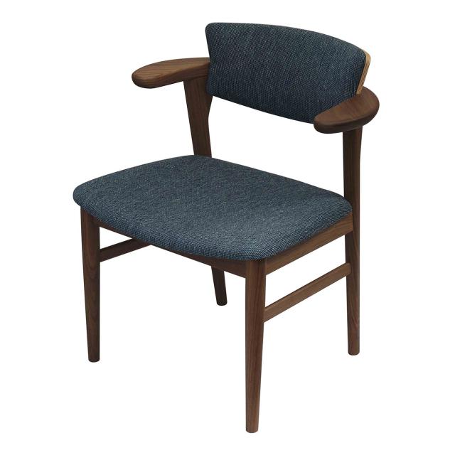 腰の椅子 Awaza LD チェア ウォールナット 座面布張  いのうえアソシエーツ