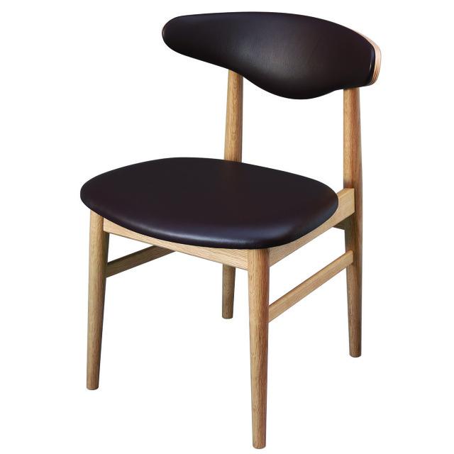 腰の椅子 Awaza MA01  アームレスチェア オーク:ナラ 座面革張  いのうえアソシエーツ