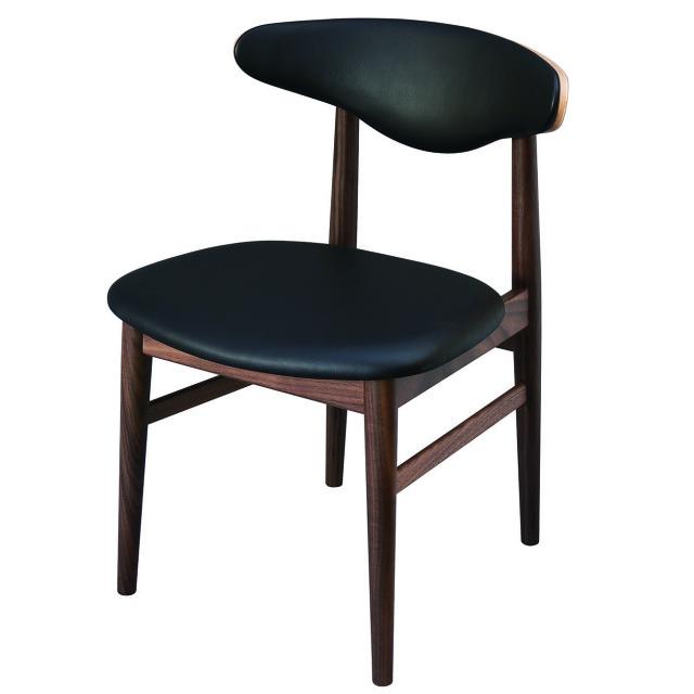 腰の椅子 Awaza MA01  アームレスチェア ウォールナット 座面革張  いのうえアソシエーツ