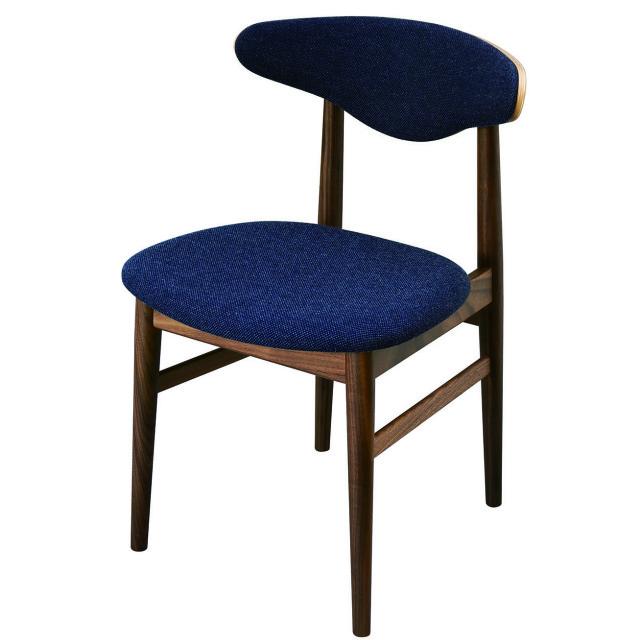 腰の椅子 Awaza MA01  アームレスチェア ウォールナット 座面布張  いのうえアソシエーツ