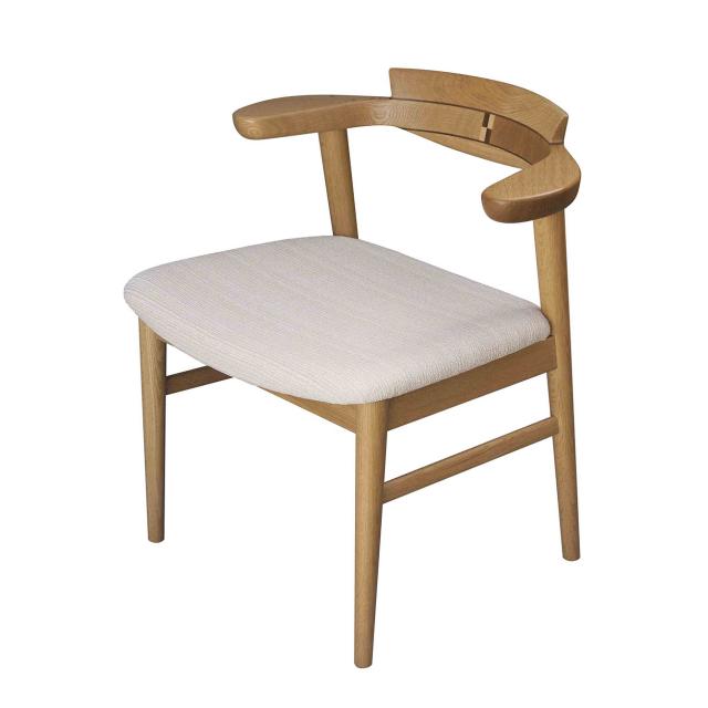 腰の椅子 Awaza チェア  オーク:ナラ 座面布張  いのうえアソシエーツ