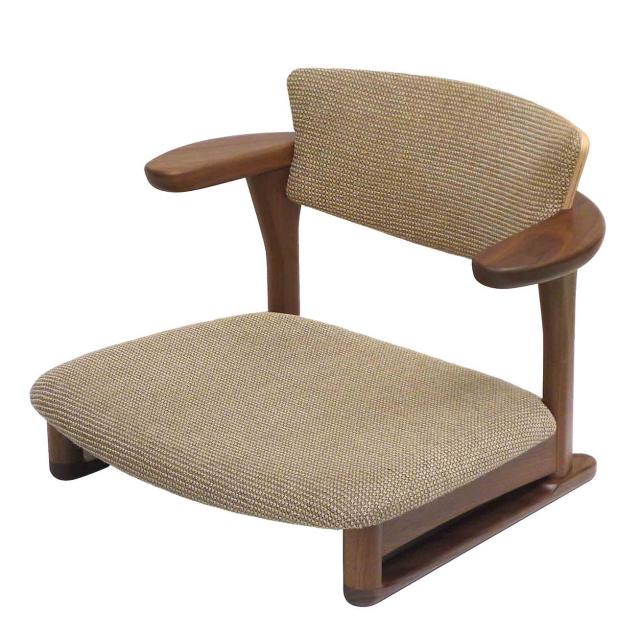 腰の椅子 Awaza LD 低座椅子 ウォールナット 座面布張  いのうえアソシエーツ