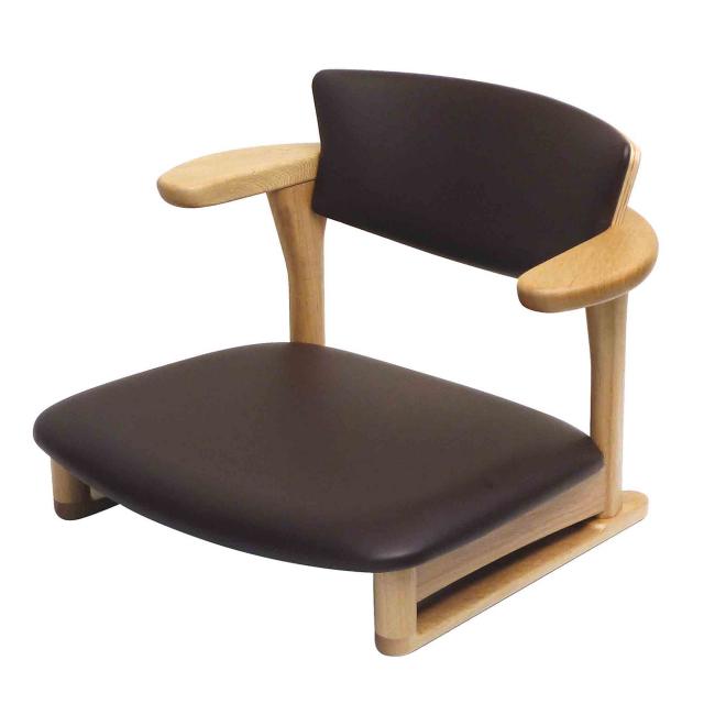 腰の椅子 Awaza LD 低座椅子 オーク:ナラ 座面革張  いのうえアソシエーツ