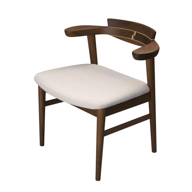 腰の椅子 Awaza1 チェア ウォールナット 座面布張 0216W-F
