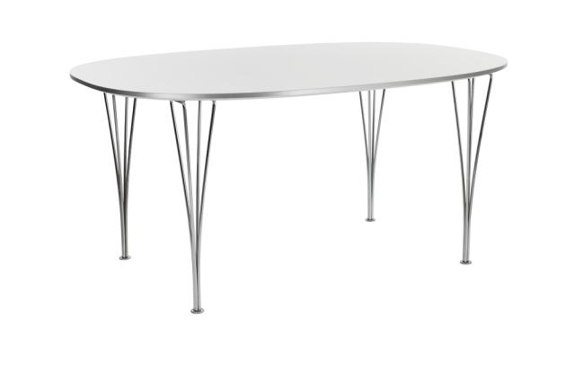 FRITZHANSEN(フリッツハンセン)Super-Elliptical table(スーパー楕円テーブル)B611 90x135cm クローム仕上げスチール脚