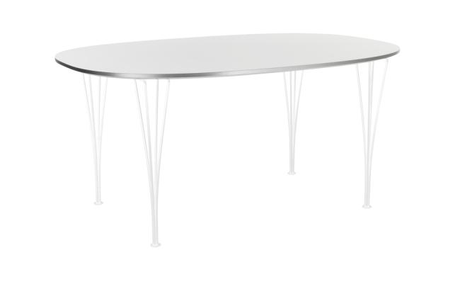 FRITZHANSEN(フリッツハンセン)Super-Elliptical table(スーパー楕円テーブル)B612 100x150cm 粉体塗装仕上げスチール脚