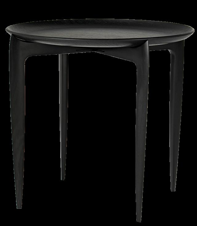 FRITZHANSEN(フリッツハンセン)Tray Table(トレイテーブル)折りたたみ式 45cm ブラックラッカー仕上げ