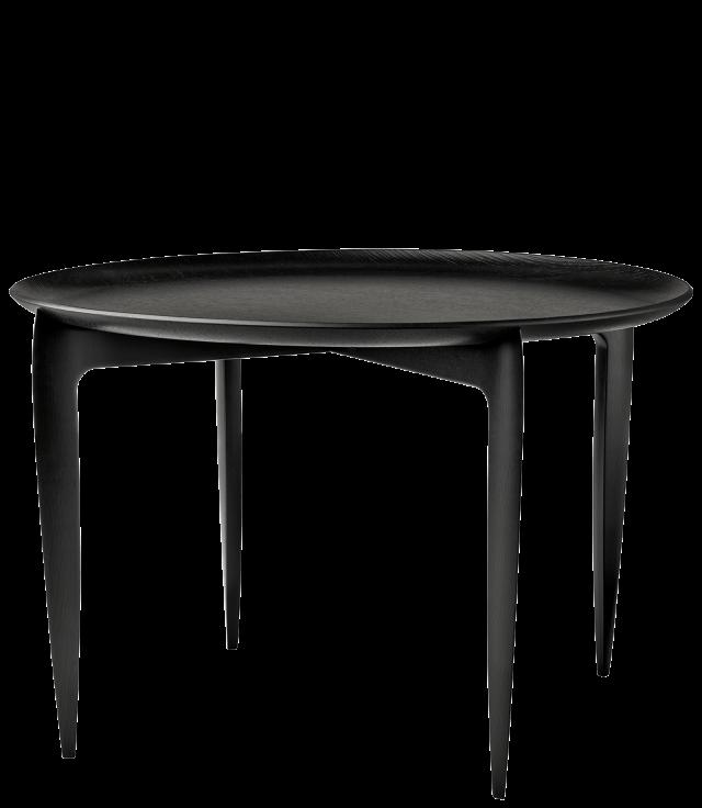 FRITZHANSEN(フリッツハンセン)Tray Table(トレイテーブル)折りたたみ式 60cm ブラックラッカー仕上げ