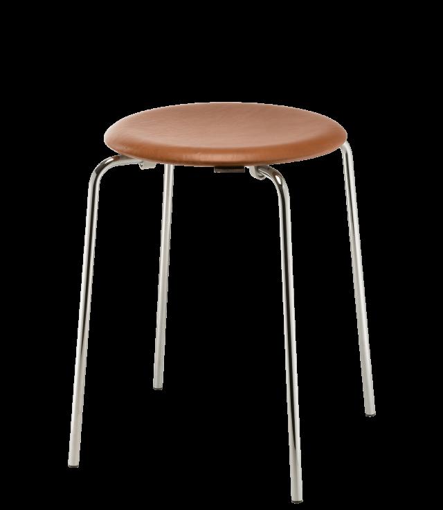 FRITZHANSEN(フリッツハンセン)dot stool(ドットスツール,スチールパイプ製クローム, レザー