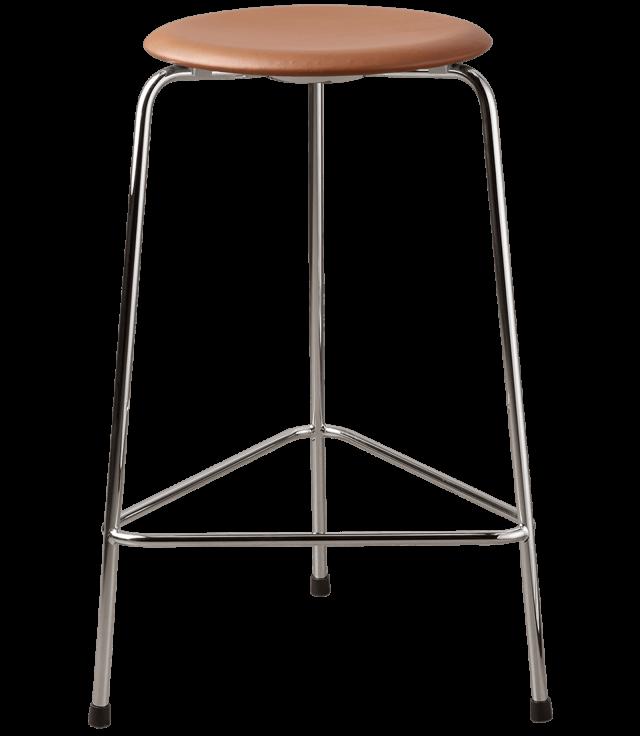 FRITZHANSEN(フリッツハンセン)dot stool(ドットスツール)ハイスツール, クローム仕上げスチール脚, レザー