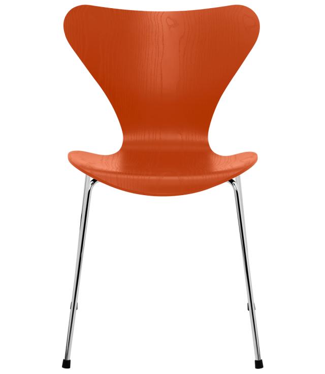 FRITZHANSEN(フリッツハンセン)serie7(セブンチェア)coloured ash(カラードアッシュ) PARADISE ORANGE(パラダイスオレンジ)ベースカラー選択可