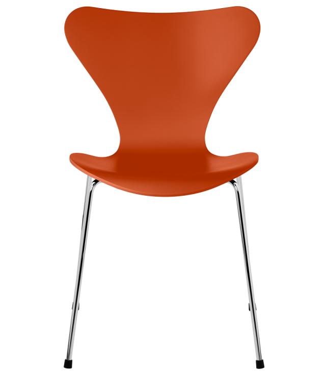 FRITZHANSEN(フリッツハンセン)serie7(セブンチェア)3107,  lacquer(ラッカー) PARADISE ORANGE(パラダイスオレンジ)ベースカラー選択可