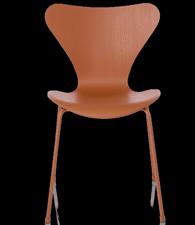 FRITZHANSEN(フリッツハンセン)serie7(セブンチェア)coloured ash(カラードアッシュ)chevalier-orange(シュバリエオレンジ)脚同色:粉体塗装仕上げ