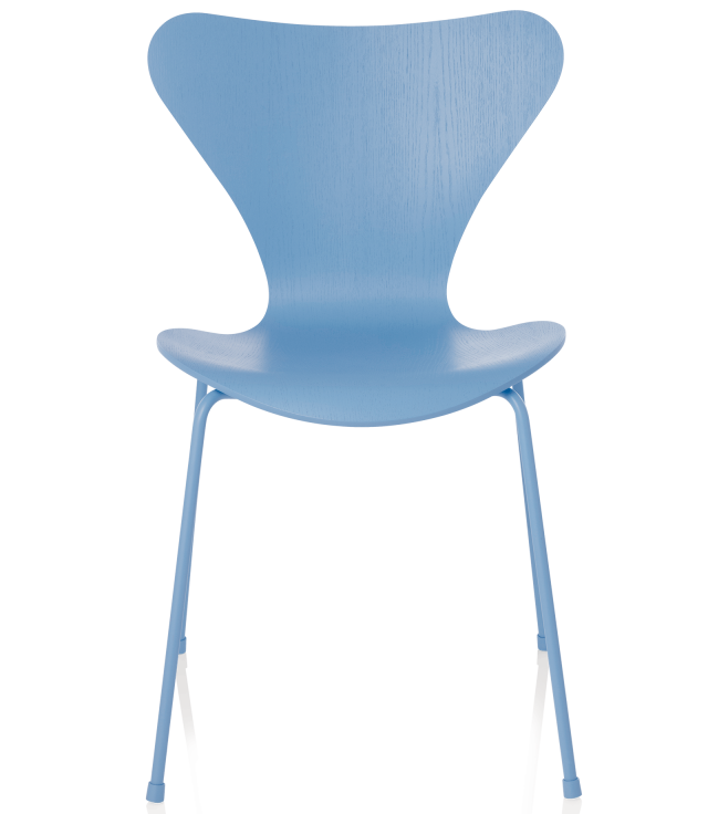 FRITZHANSEN(フリッツハンセン)serie7(セブンチェア)coloured ash(カラードアッシュ)trieste-blue(トリエステブルー)脚同色:粉体塗装仕上げ