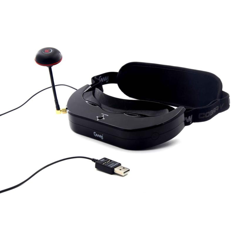 DTS Cobra V Goggles FPV ゴーグル 5.8Ghz 40CH 7.2インチ 190g軽量 解像度854*480 (gwy006824) ドローン