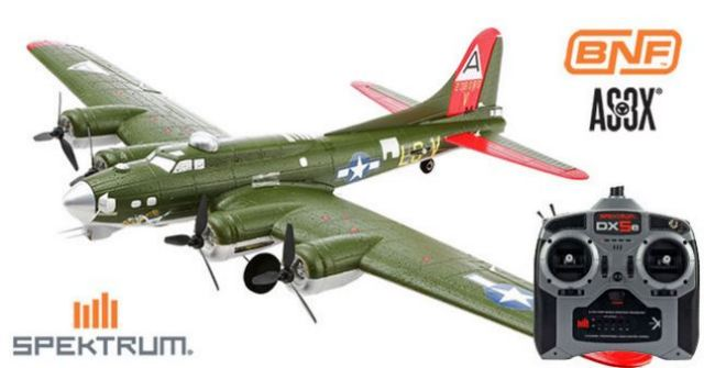 ホライゾン ホビー UMX B-17G Flying Fortress BNF with AS3X + 5ch Tx Mode1 セット (AH-EFLU5380-C5-M1) Horizon Hobby