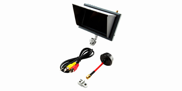 Horizon Hobby 4.3 インチ FPV ビデオモニター / マウント&日除け付き (AH-SPMVM430) | ラジコンヘリ関連商品 ホライゾンホビー ORI RC パーツ