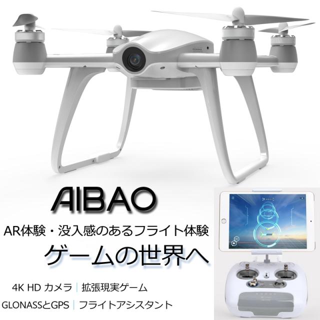 ORI RC ワルケラ WALKERA AIBAO 4Kカメラ GPS リアルタイム映像転送 空撮 ドローン  AR体験・没入感のあるフライト体験・ゲームの世界へ (walkera-aibao) 【技適・電波法認証済】 AR ドローン
