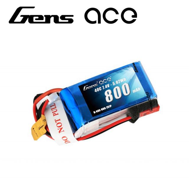 Gens Ace製 7.4V 800mAh 40C 2S 高性能 バッテリー  ワルケラ Rodeo110 対応  (ga-b-40c-800-2s1p-jst)|ラジコンヘリ関連商品 ドローン