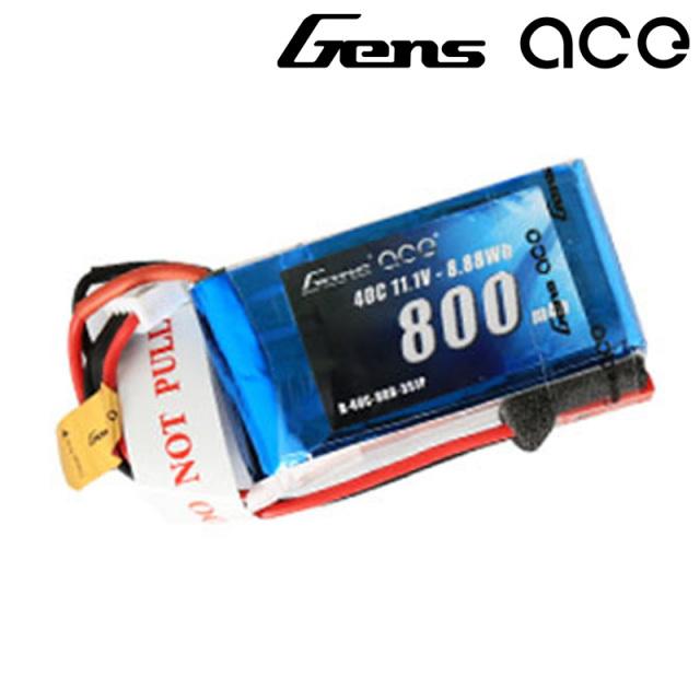 Gens Ace製 11.1V 800mAh 40C 3S 高性能 バッテリー  DTS 200 対応  (ga-b-40c-800-3s1p-jst)|ラジコンヘリ関連商品 ドローン