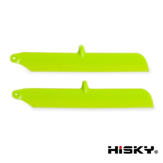 ORI RC HiSKY HCP80(FBL80)用 メインローターブレード(緑) 800236|ラジコンヘリ関連商品 HiSKY パーツ HCP80 ハイスカイ
