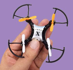 童友社 nano X (ナノエックス) ミニ ドローン 4ch 2.4GHz マルチコプター 屋外 屋内 複数 同時飛行可能 (DYS-60036)
