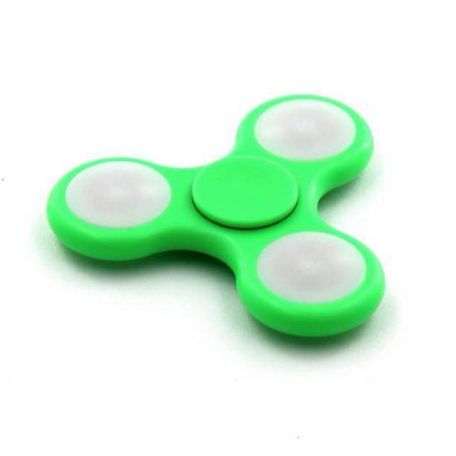 ハンドスピナー 3タイプ切替LED付 指スピナー ウィジェット 高速ベアリング フォーカス玩具 ストレス解消 暇つぶし おもちゃ 三角形 (spinner-3tled)