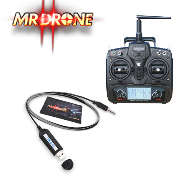 ワルケラ WALKERA MR Drone シミュレータ + DEVO7 セット  (walkera-mrdrone-devo7) レース用ドローン ラジコン ヘリコプター