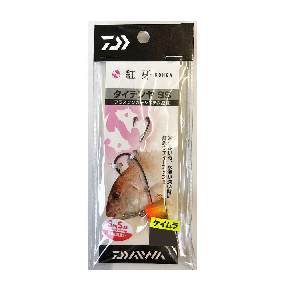 旧品・特価【Cpost】ダイワ 紅牙 タイテンヤ SS 3号 ケイムラオレンジ/金(da-979399)