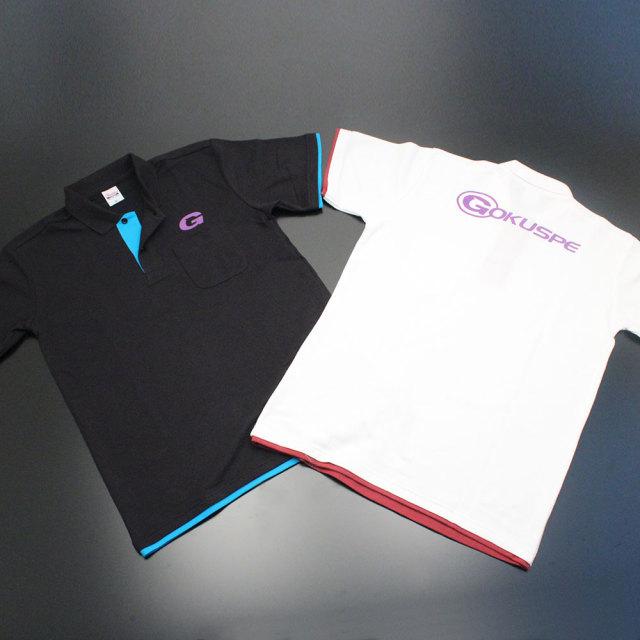 Gokuspe ゴクスペ オリジナルデザインポロシャツ (ブラック/ホワイト) (120055)
