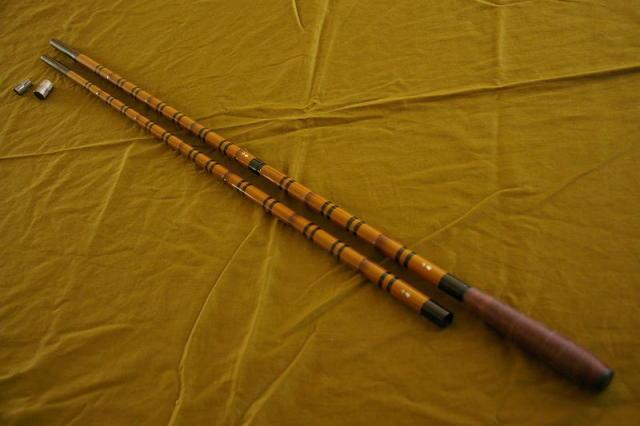 千尋 (せんじん)玉の柄2本物笛巻 (40018)