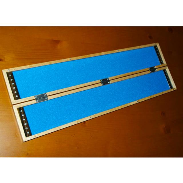 【Cpost】桐製薄型 (黒檀入り)チチワ式ハリス箱50cm[50065]