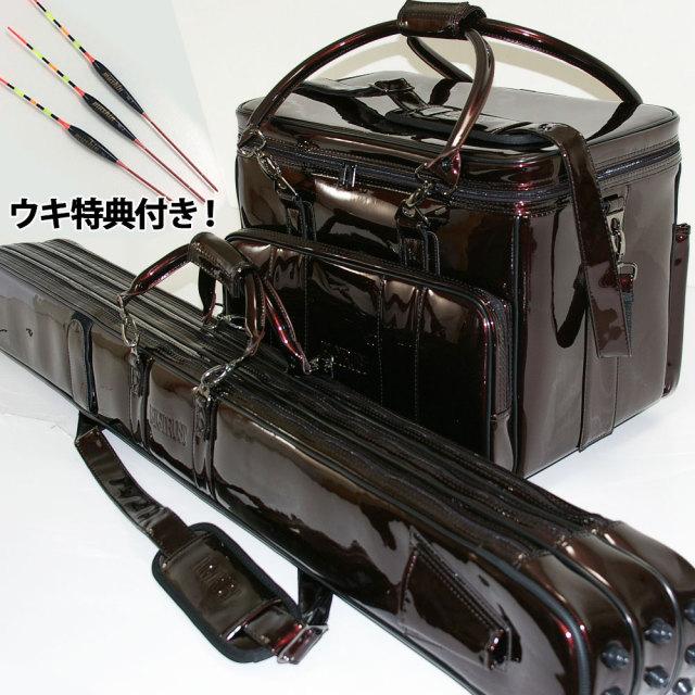 ダイシン ビッグトラスト ヘラバッグ & 3層ロッドケースセット ブラウン 浮き特典 (無心・極 羽根2枚カッツケパイプトップ3本セット)付き (50265-br-10251set)