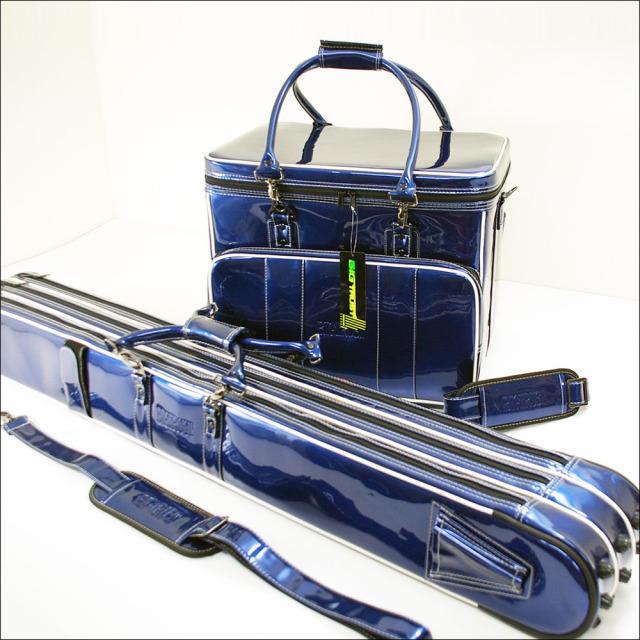 ダイシン BIG TRUST [ビッグトラスト] ヘラバッグ & 3層ロッドケースセット メタリックブルー (50282-blue)