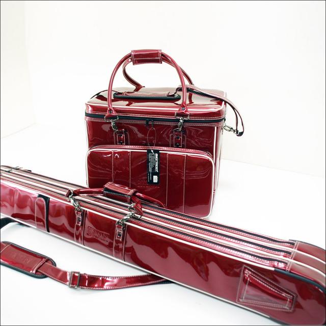 ダイシン BIG TRUST [ビッグトラスト] ヘラバッグ & 3層ロッドケースセット ワインレッド (50282-red)